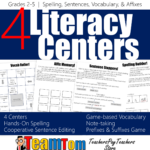 Centers for reading, writing, and word study