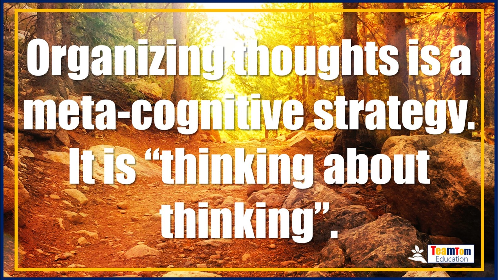 Teaching meta-cognition is not that hard, but it is powerful for learning.
