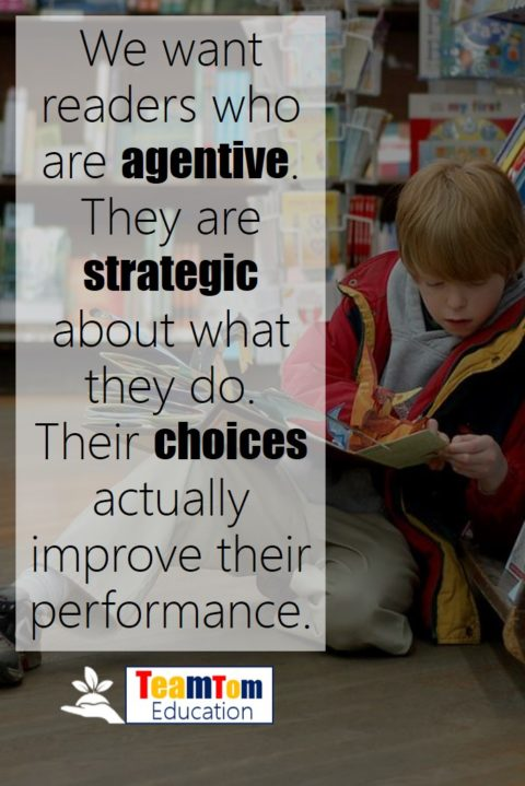Agentive readers know how to use reading strategies.