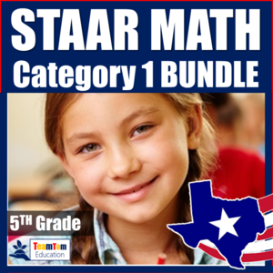 STAAR Task Cards that support student success on 5th grade STAAR Math!