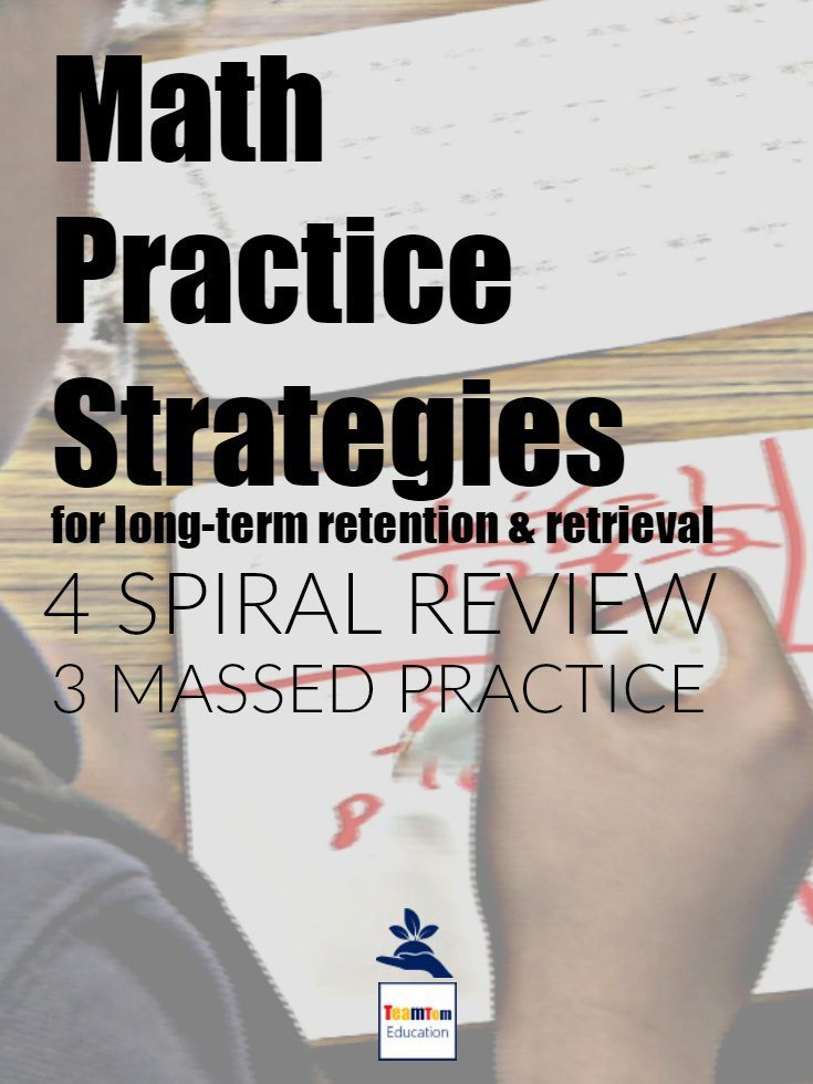 Why argue over spiral versus massed practice? We know students need both! So, here are 7 strategies for you...4 spiral review and 3 massed practice. Read the article.