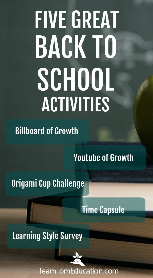 Five fun and engaging back to school ideas that build a growth mindset and promote positive class culture.