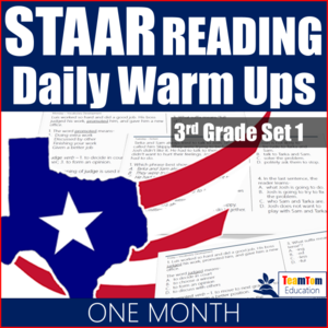 STAAR Reading Daily Warm-Ups