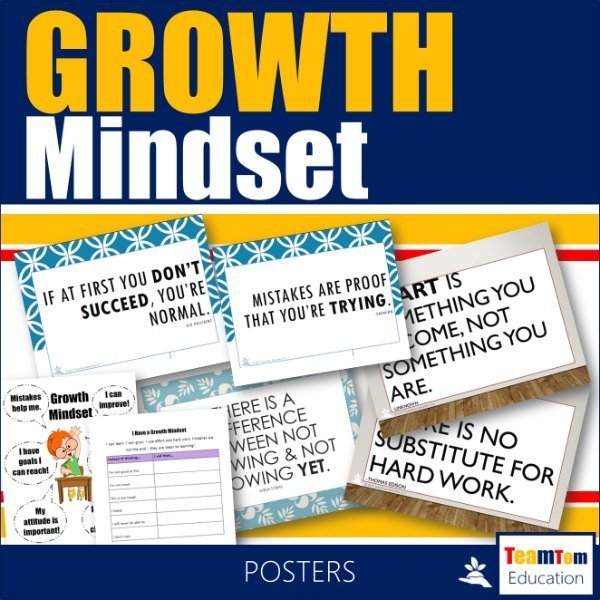 Growth Mindset Posters Cover -600