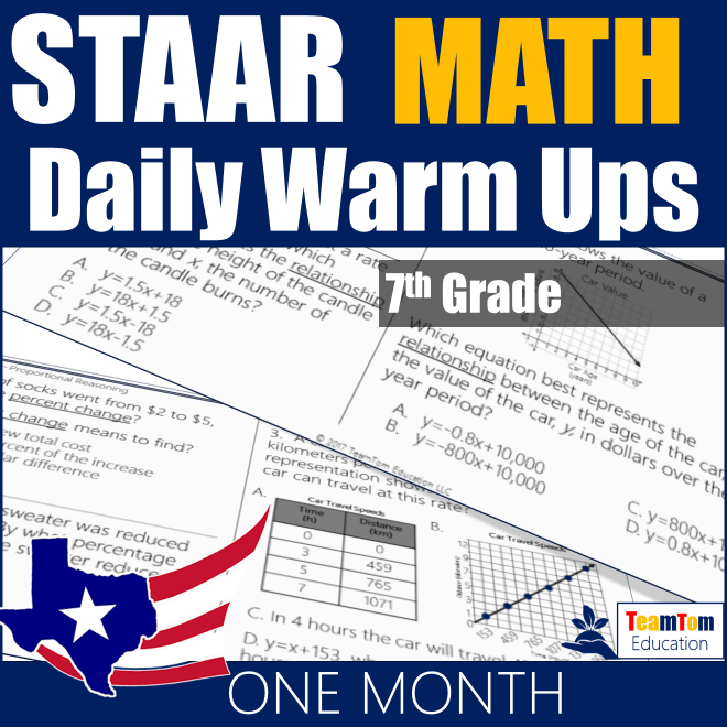 STAAR Math 7 Warm-Ups