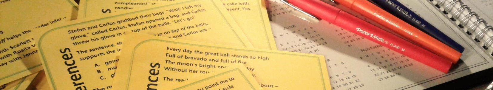 Task Cards for lesson planning