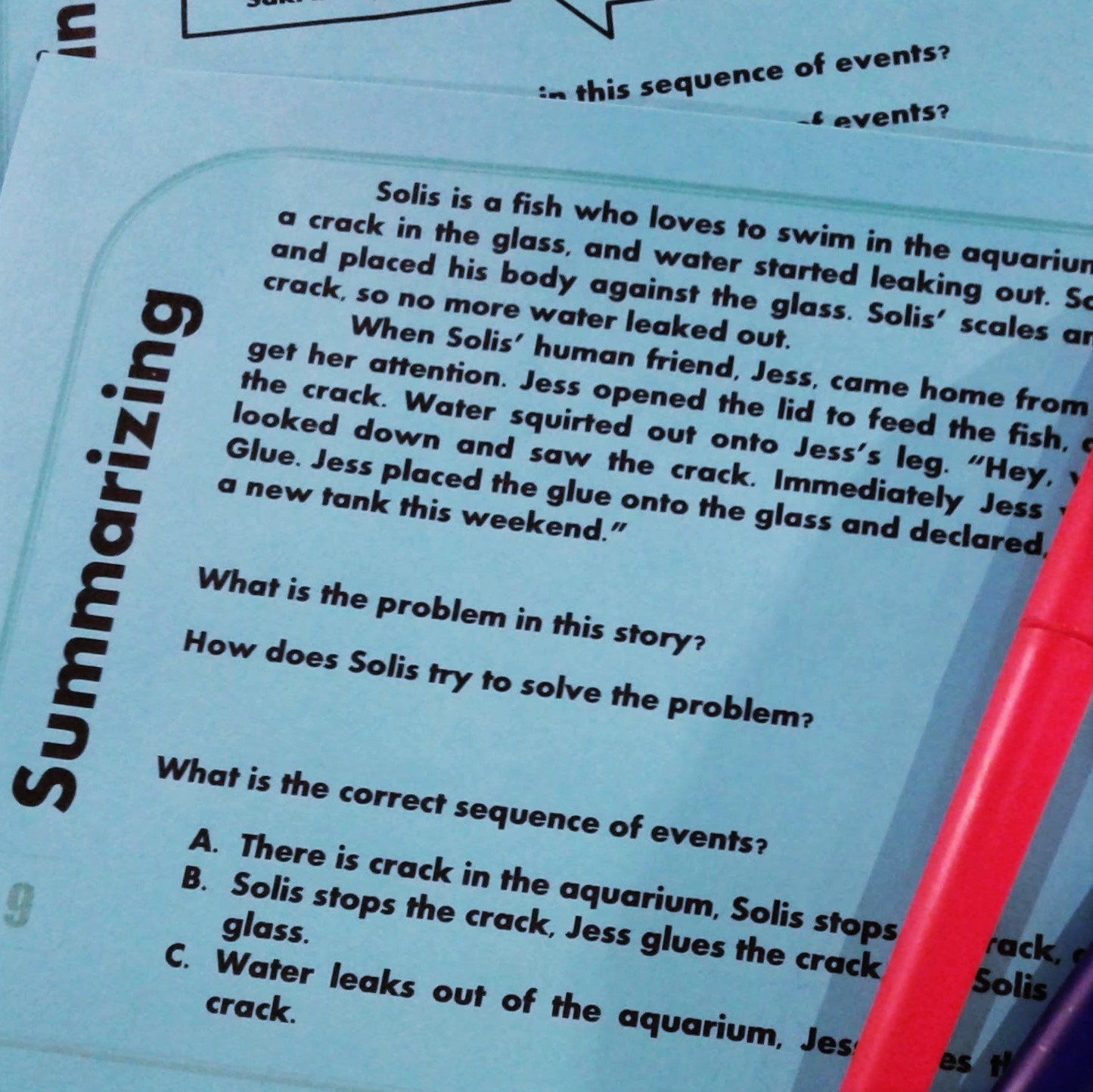 Teaching ideas for reading comprehension