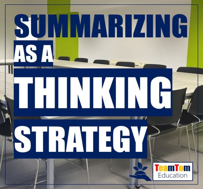 Summarizing as a Thinking Strategy
