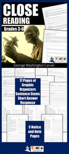 George Washing Carver was an amazing American. His story is captured in these close reading resources!