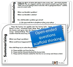 Scaffold student learning with summarizing task cards from TeamTom Education.