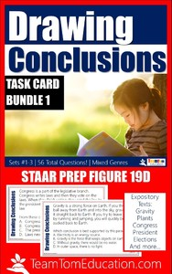 Help your students master Figure 19 with these Drawing Conclusions Task Cards for STAAR Prep!
