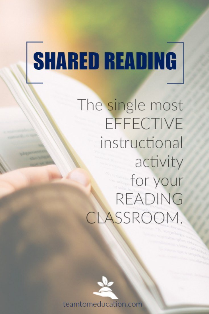 Shared Reading is the Single Most Powerful Instruction Activity in the Reading Classroom! Here are six reasons why.