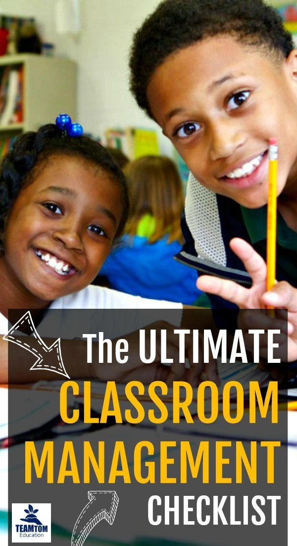 Just in time for back to school, make sure you think of everything with this classroom management checklist!