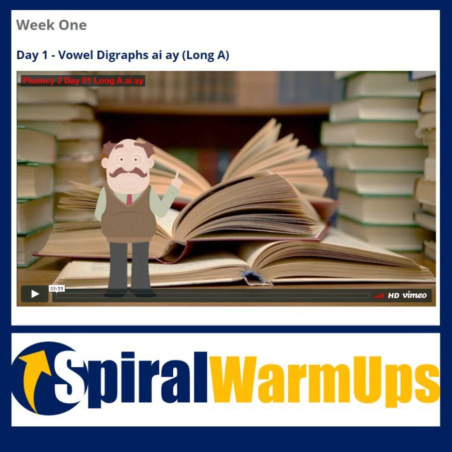 Fluency Warm-Ups for the free Word Study Membership at spiralwarmups.com!