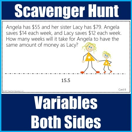 Scavenger Hunt for 8th grade Math at TeachersPayTeachers