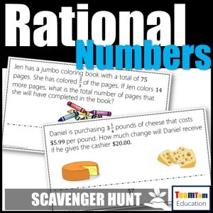 Math Scavenger Hunts are perfect for teaching Rational Numbers!
