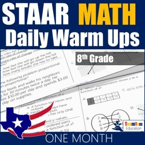 Quick STAAR Review and Warm-Ups for Math 8