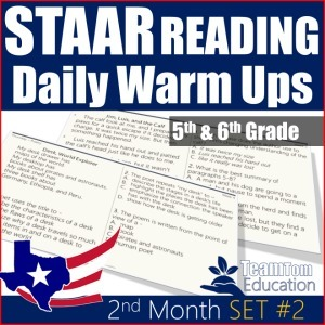 Quick STAAR Review and Warm-Ups for Reading 5