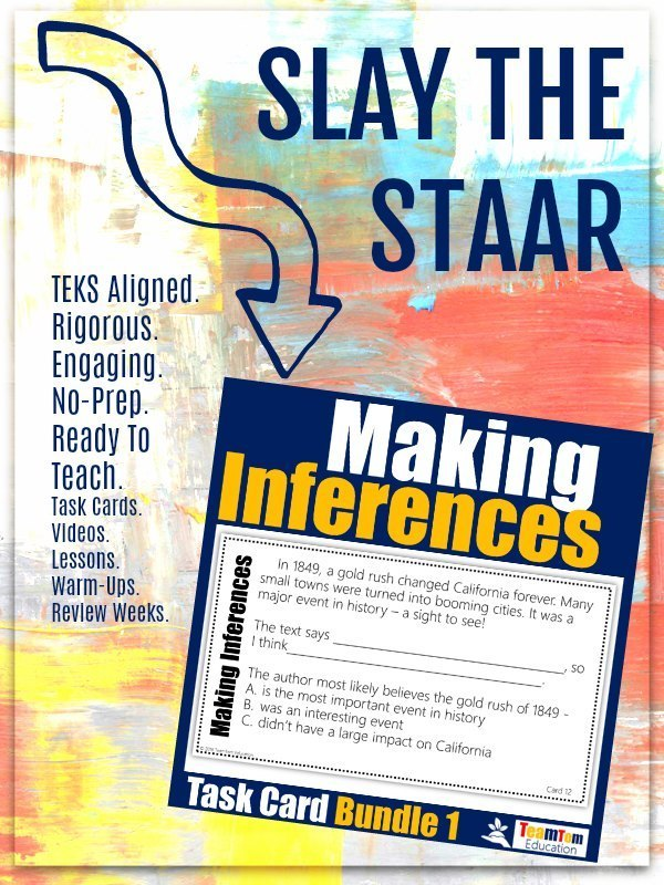 Making Inferences Task Cards |  This complex skill is simplified with scaffolded questions, engaging texts, and easy to use task cards.