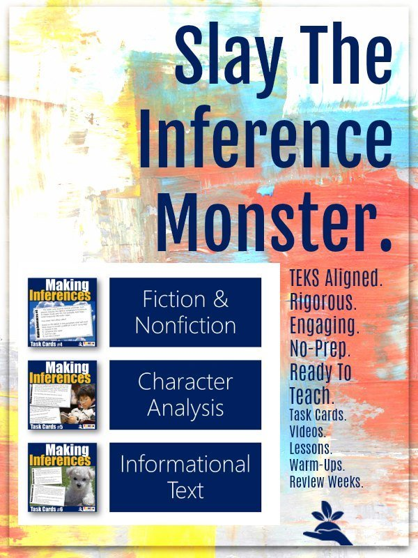 Making Inferences Task Card Bundle 2 |  Slay the STAAR test with Inferencing Task Cards from TeamTom Explore Here >>
